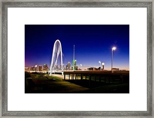 Bridge At Sunrise Framed Print
