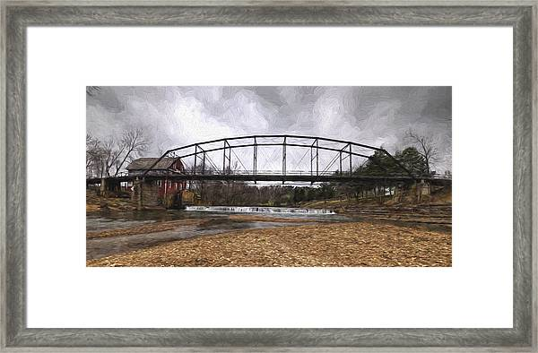 Bridge At The Mill Framed Print