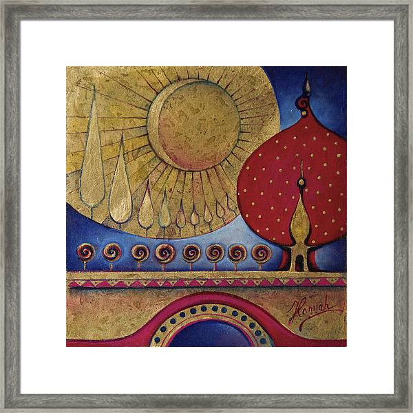 Bridge Between Sunrise And Moonrise Framed Print