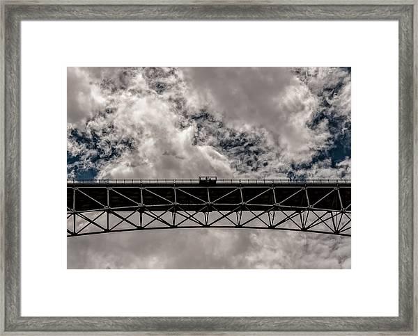 Bridge From Below Framed Print