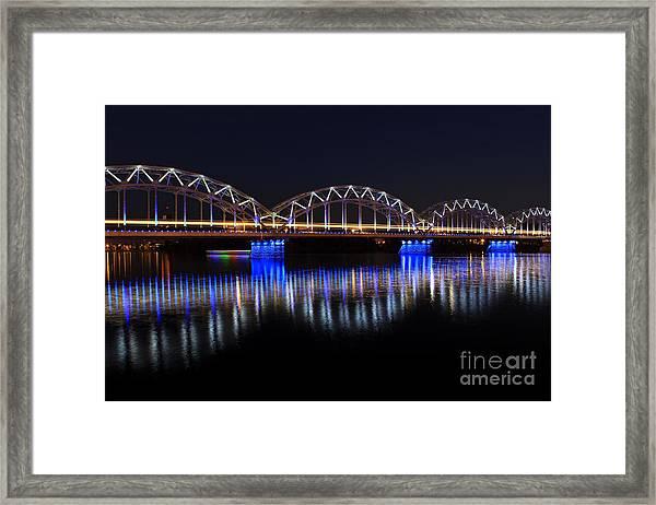 Bridge In Riga  Framed Print