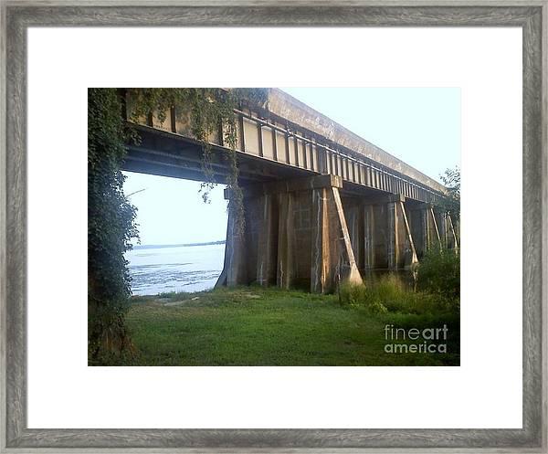 Bridge In Leesylvania Park Va Framed Print