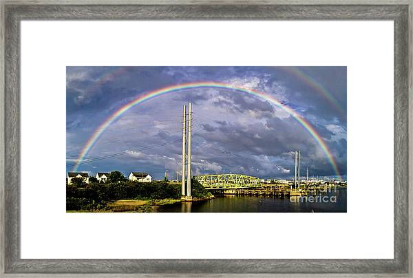Framed Print featuring the photograph Bridge Of Hope by DJA Images