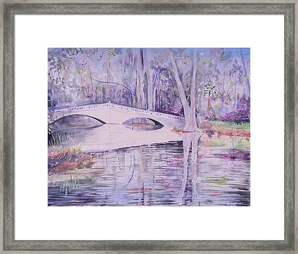 Bridge Of Magnolia Gardens Framed Print