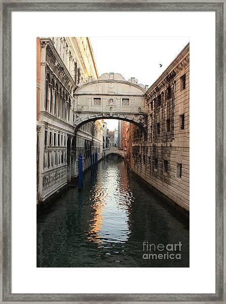 Bridge Of Sighs In Venice In Morning Light Framed Print by Michael Henderson