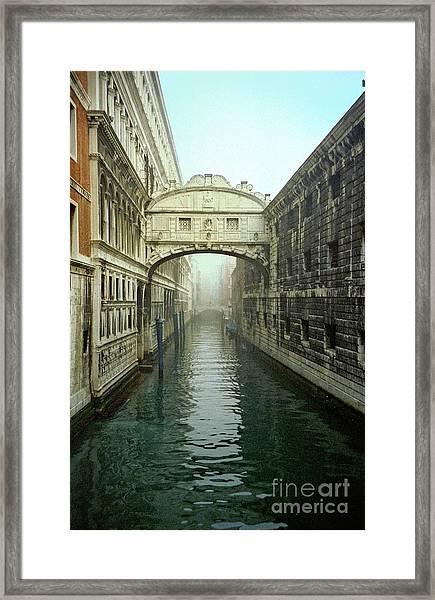 Bridge Of Sighs In Venice Framed Print by Michael Henderson