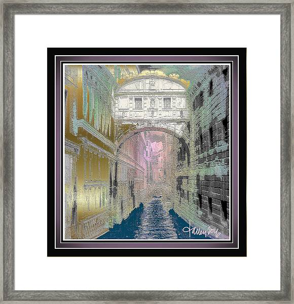 Framed Print featuring the painting Bridge Of Sighs by Larry Talley