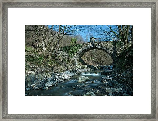 Bridge Over Peaceful Waters - Il Ponte Sul Ciae' Framed Print