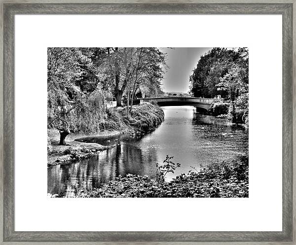 Bridge Over River Framed Print