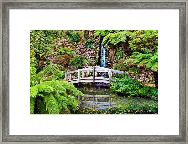 Bridge Over Still Water Framed Print