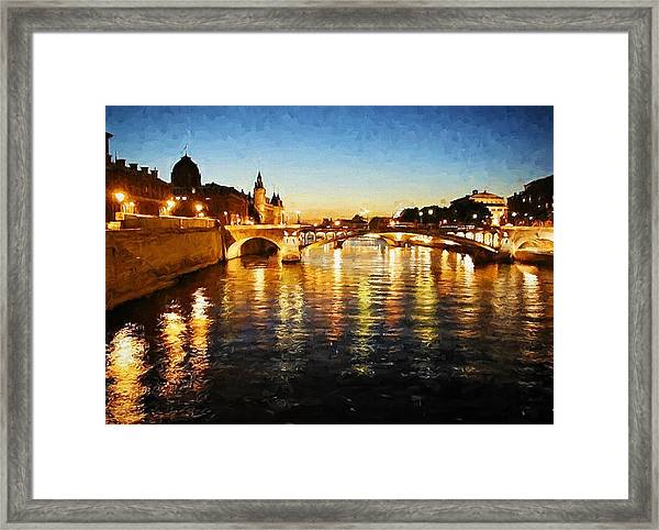 Bridge Over The Seine Framed Print