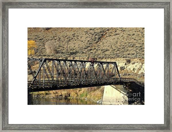 Bridge Over The Thompson Framed Print