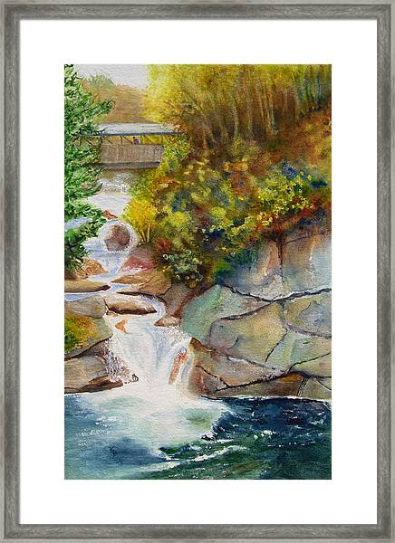 Bridge Over Traveled Water Framed Print