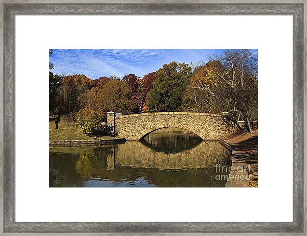 Bridge Reflection Framed Print