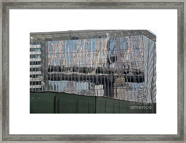 Bridge Reflections Framed Print by Andrea Simon