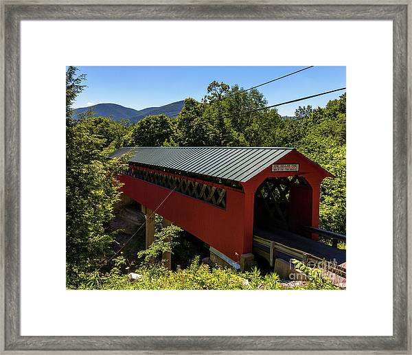 Bridge To The Mountains Framed Print
