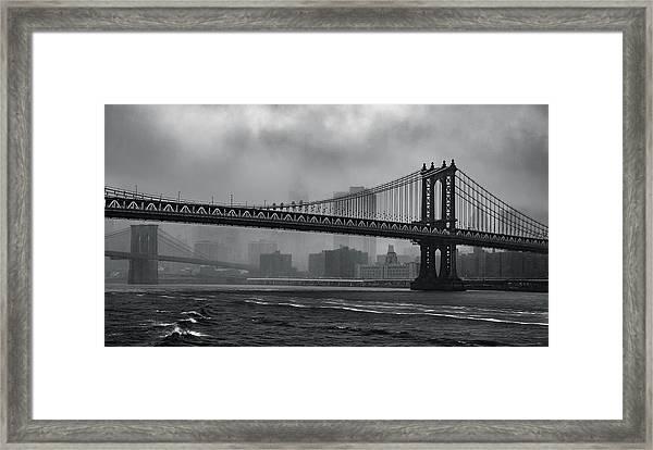 Bridges In The Storm Framed Print