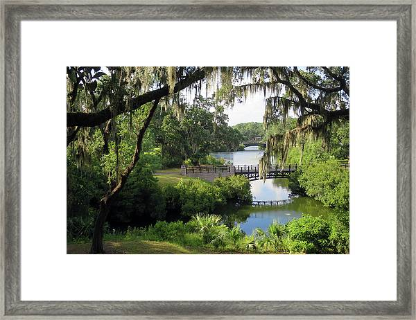 Bridges Over Tranquil Waters Framed Print