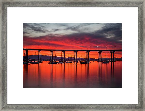 Bridgescape Framed Print