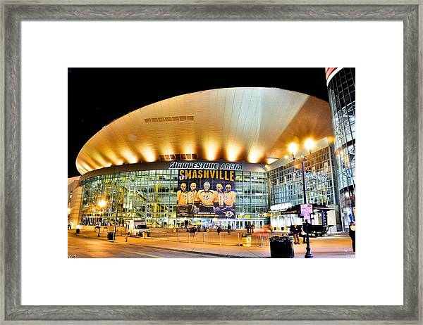 Bridgestone Arena Framed Print