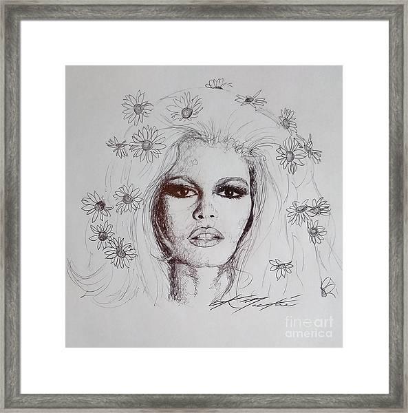 Bridget Bardot Framed Print