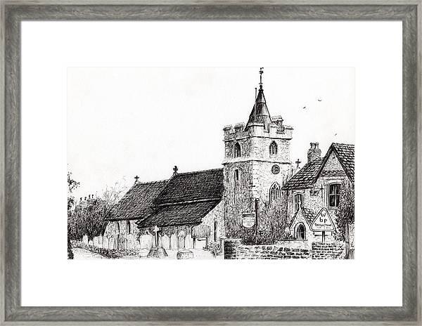 Brighstone Church Framed Print