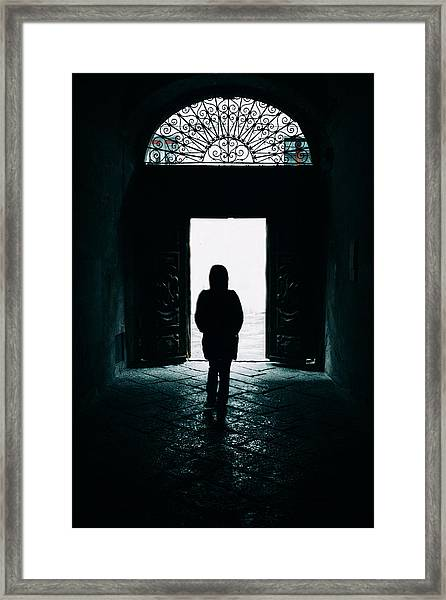 Bright Ancient Doorway Framed Print