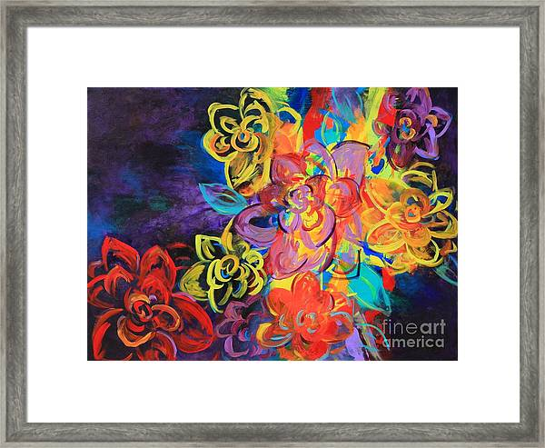 Bright Flowers Framed Print by Sabra Chili