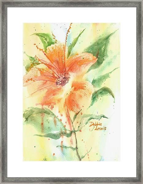Bright Orange Flower Framed Print