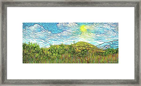 Bright Sky Summer - Field In Boulder County Colorado Framed Print