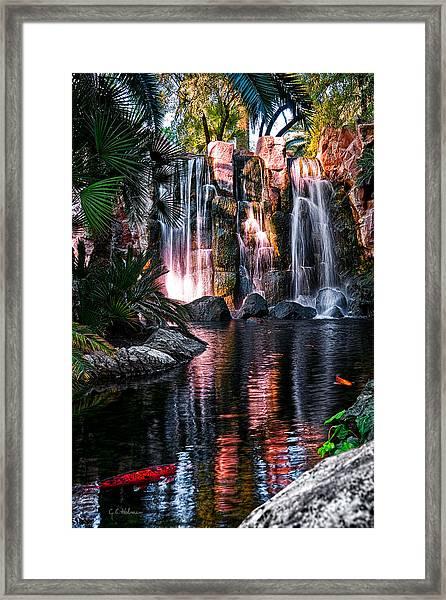 Bright Waterfalls Framed Print