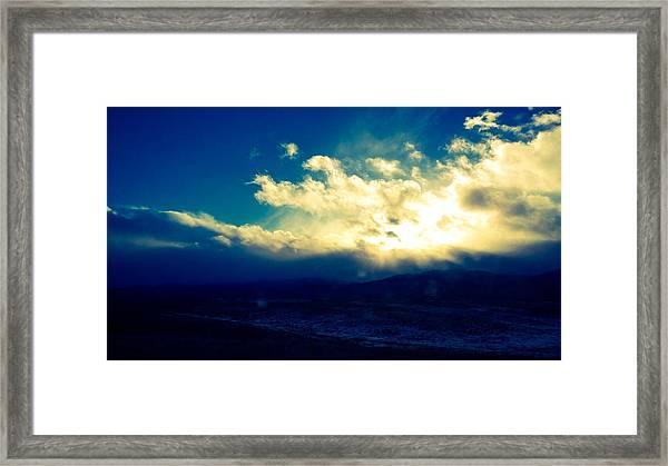 Brightest Clouds Framed Print