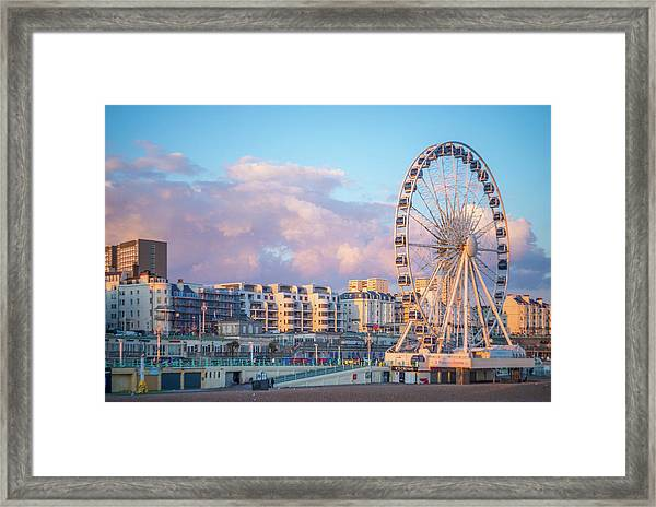Brighton Ferris Wheel Framed Print