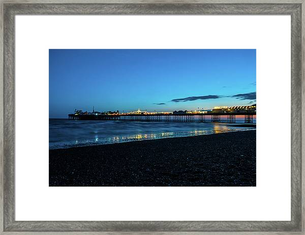 Brighton Pier At Sunset Ix Framed Print