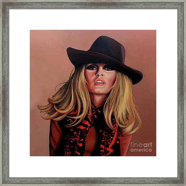 Brigitte Bardot Painting 1 Framed Print