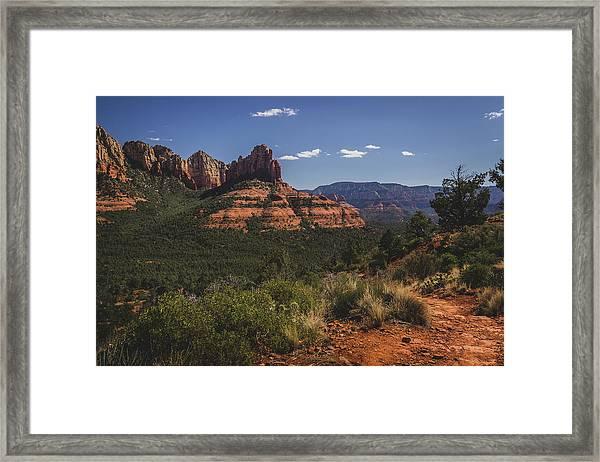 Brins Mesa Trail Vista Framed Print