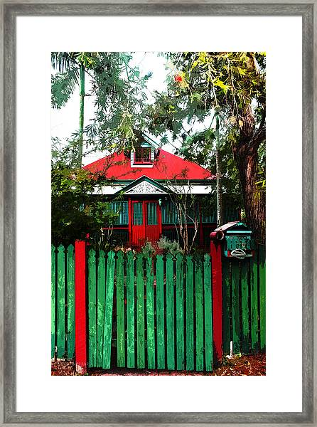 Brisbane Queenslander Framed Print