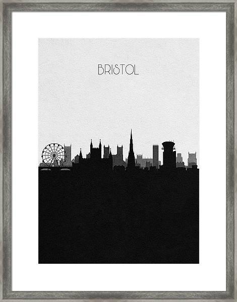 Bristol Cityscape Art Framed Print