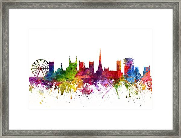 Bristol England Cityscape 06 Framed Print