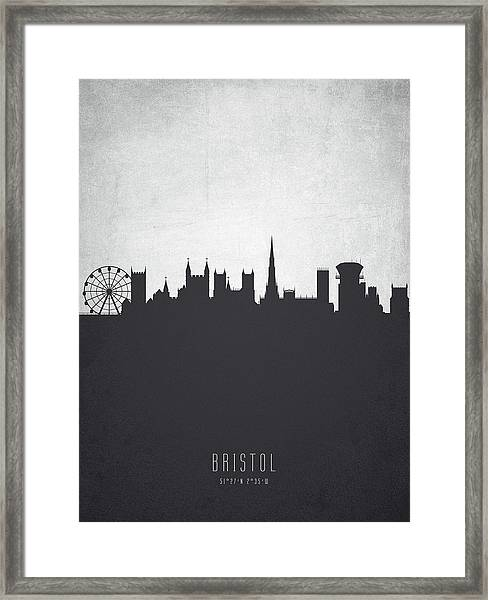 Bristol England Cityscape 19 Framed Print