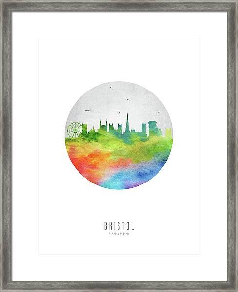 Bristol Skyline Gbbr20 Framed Print