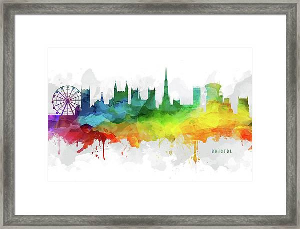Bristol Skyline Mmr-gbbr05 Framed Print