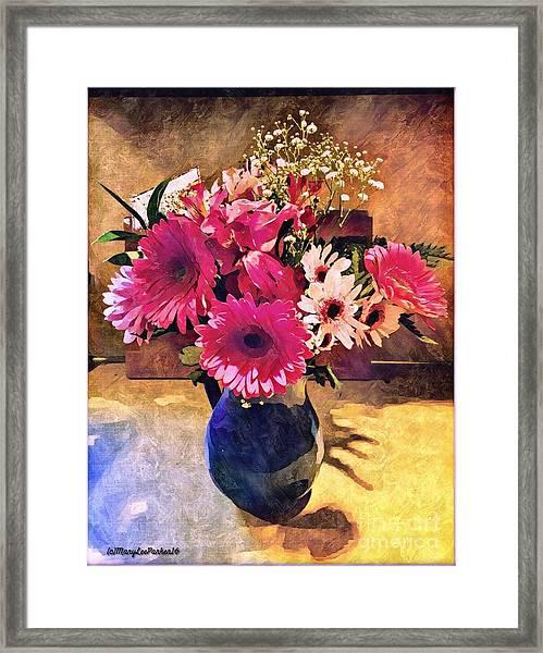 Brithday Wish Bouquet Framed Print