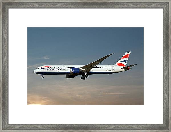 British Airways Boeing 787-9 Dreamliner 16 Framed Print