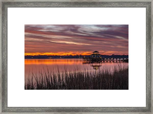 Brittlebank Park Dock Charleston Sc Framed Print