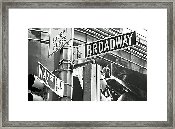 Broadway And 42nd Framed Print