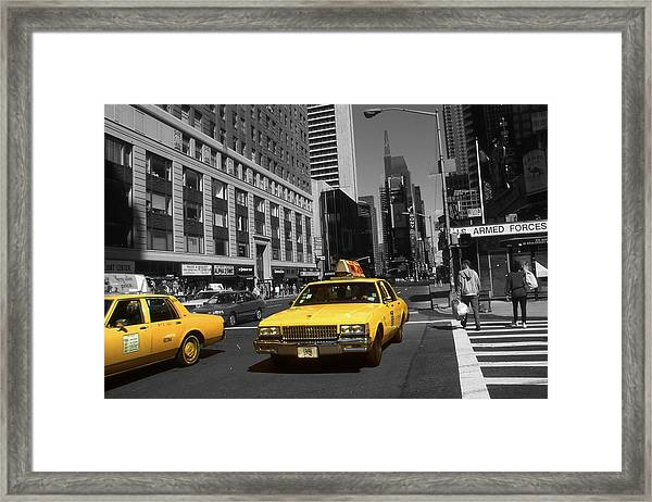 New York Yellow Taxi Cabs - Highlight Photo Framed Print