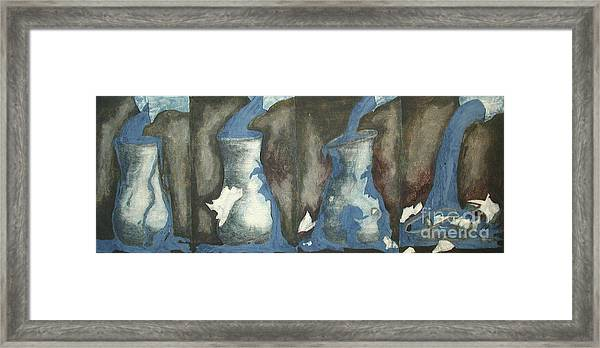 Broke Down- This Vase Cannot Hold Any More Framed Print by Sarah Goodbread