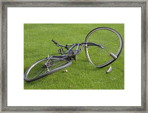 Broken Bicycle Framed Print by Carl Purcell