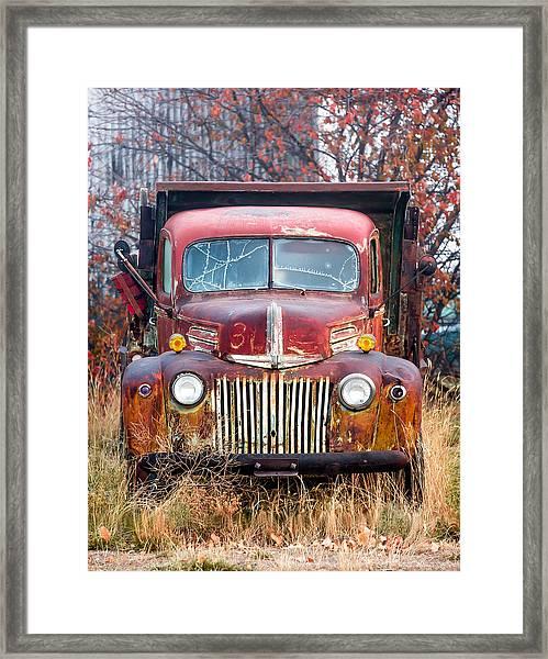 Old Abandoned Truck Framed Print